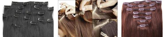 Extensiones de pelo natural de clip